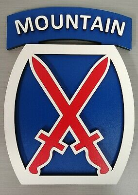 "US Army 10th Mountain Division ""Mountaineer"" Unit 3D Plaque Military"