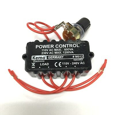 Axial Fan / Motor / Light Dimmer Controller 110V Or 240V M012 Aa0346