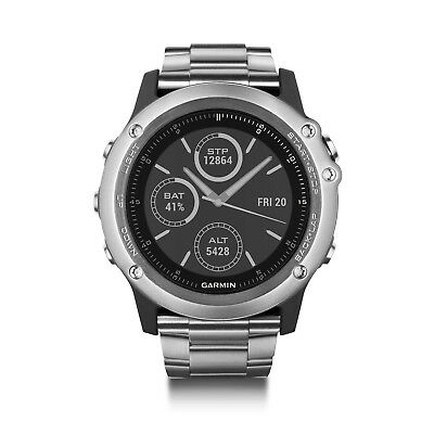 Garmin Fenix 3 Sapphire Smart GPS Watch Silver+Leather Band