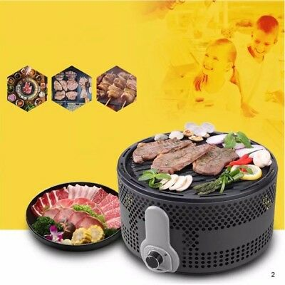 Stainless Steel Barbecue Grill Portable Charcoal BBQ Smokeless Grill