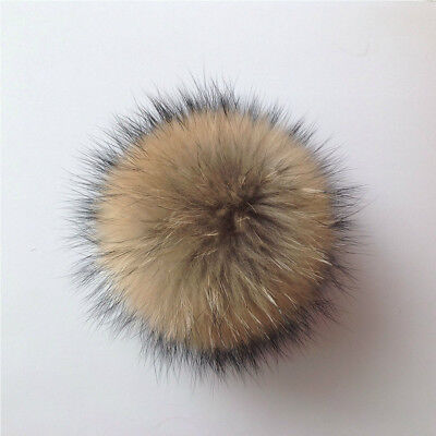 UK Fluffy Faux Fur Pom pom Ball for Hat Scarves Hand Bag Keychain Accessory New