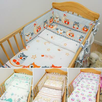 5 Piece Baby Nursery Cot Bedding Set Duvet Bumper Pillow