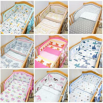 6 Piece Bedding Set Baby Cot Bed Nursery Safety Bumper