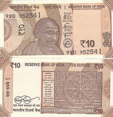 India.2017,10 Rupees..p-New,unc Banknotes,(S)