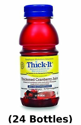 Thick-It AquaCare H2O: Pre-Thickened Cranberry Juice, Nectar-thick liquid, (1