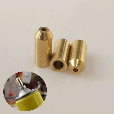 3Pcs Brass Gas Refill Adapter For S.T Dupont Memorial Lighter DIY Repair Kit
