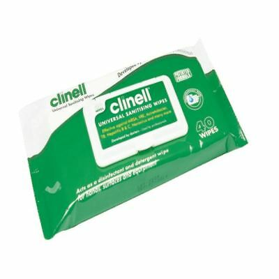 Clinell Universal Sanitising Wipes 40 (Pack of 24) GCW40 [STE44010]
