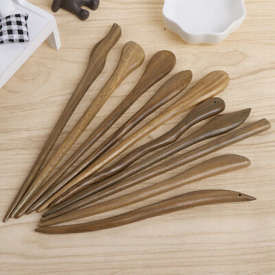 Vintage Women Hair Pin Classic Hairpins Natural Wood Hair Sticks Jewelry Ebony