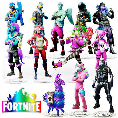 Fortnite Llama Skull Trooper Figure Bunny Pink Bear Stand Acrylic Toy Fans Gifts