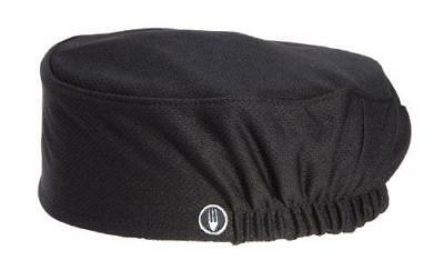 Chef Works Men's Total Vent Chef Beanie, Black, One Size