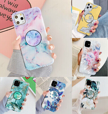 Marble Put Up Holder Shockproof Case Cover F iPhone X XR XS 11 Pro Max 8 7 6s