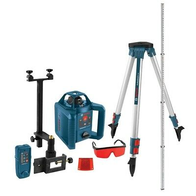 Bosch Laser Level Self Leveling Rotary 800 ft Wall Mount Tripod 5 Piece