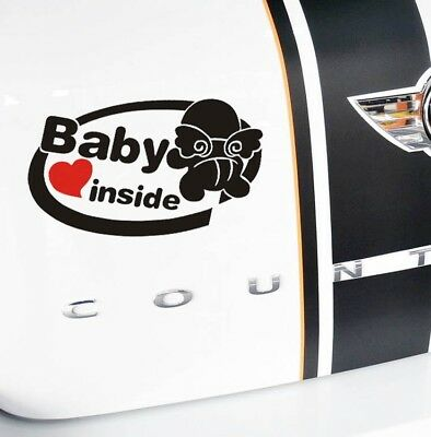 angel baby inside Car sticker Bumper Van Window Laptop JDW VINYL Decals Stickers