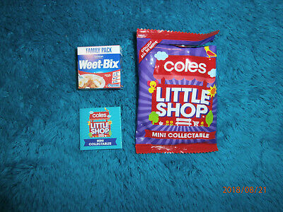 Coles Little Shop Mini Collectible Weet-Bix As New With Packet Free Postage