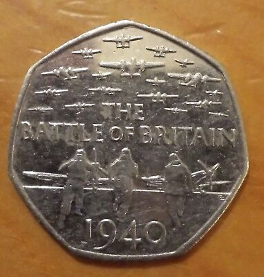 Battle of Britain 50p Coin 2015 - Circulated