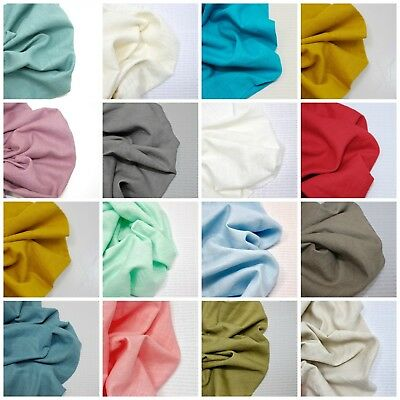 100% Bio Washed Linen Fabric Fashion Dressmaking Quality Weight Material Flax