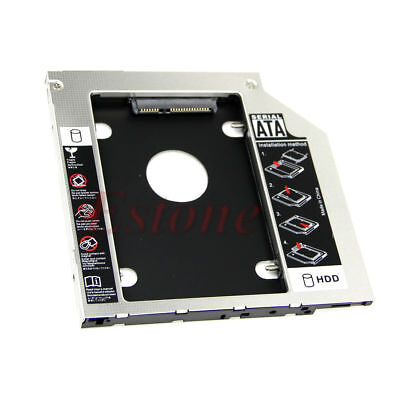 Universal CD/DVD 2nd HDD Caddy SATA to SATA 9.5mm Hard Drive Adapter For Laptop