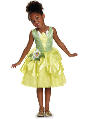Child's Girls Disney Classic Tiana Princess And The Frog Ball Gown Dress Costume