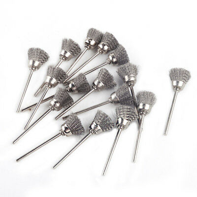 """16XSliver Steel Wire Cup Brush fit for Power Rotary Tools Die Grinder 1/8"""" Shank"""