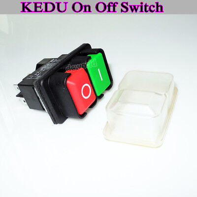 KEDU On Off Switch KJD17B 4pin 220V For Bench Saws Mag Drill DIY Magnetic Switch