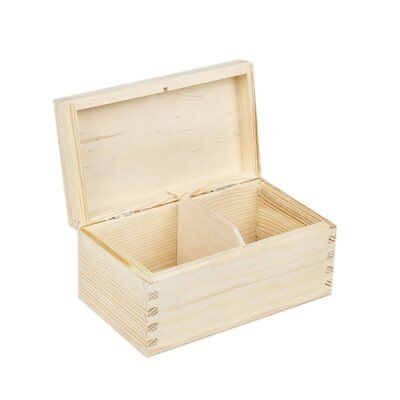 Tea cofanetto con 2 scomparti 9.5 x 16.5 x 8 cm naturale box (v7H)