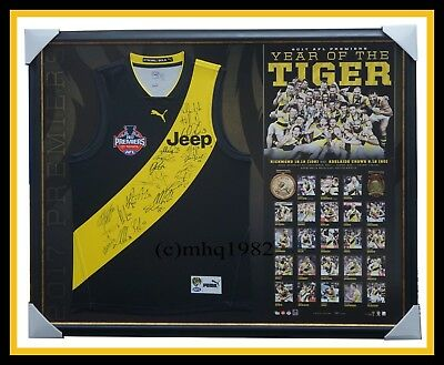 Richmond Signed 2017 Official AFL Premiership Team Jumper Framed Dustin Martin