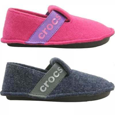 Crocs 205349 CLASSIC SLIPPER Kids Boys Girls Unisex Fleece Lined Warm Slippers