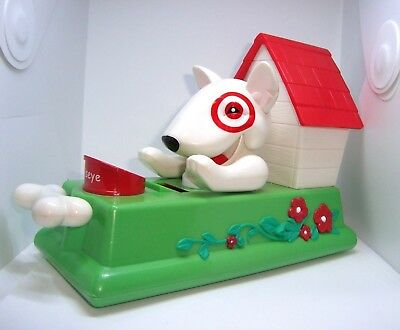 Rare> TERRIER BULL DOG COIN BANK BY TARGET HOUSE PUPPY PRESS BONE FLIP COIN IN
