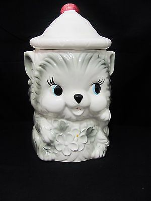 1950'S Cookie Jars Interesting ADORABLE VINTAGE GIRL CAT Cookiebiscuit Jar 60's Japan 6060