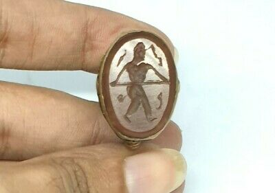 Agate Size 7.25US Ring Gemstone Jewelry Middle Eastern Ethnic Tribal Vintage