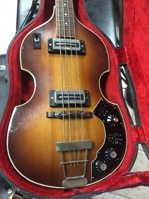 Rare Vintage 1967-68 Hofner 500/1m Soundmix Bass with Case