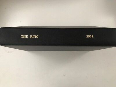 "1951 bound volume of ""The Ring"" boxing magazine ."