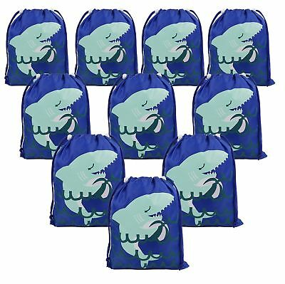 Shark Party Favors Bags Supplies for Boys and Girls, 10 Pack Cute Goodie Bags