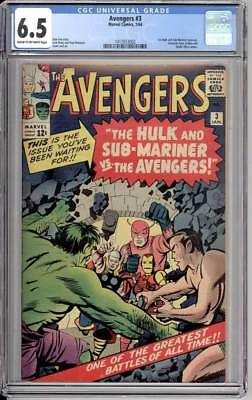 The Avengers #3, 1st Hulk Sub-Mariner team-up,  CGC 6.5