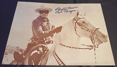 CLAYTON MOORE as THE LONE RANGER - SIGNED Poster