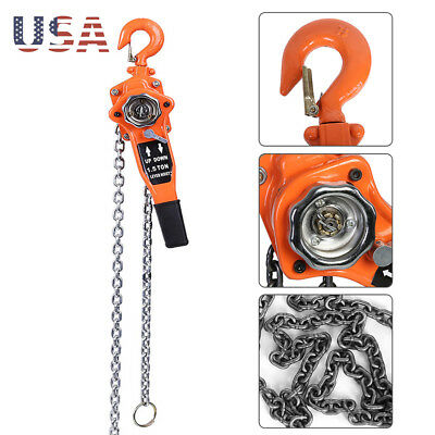 1.5 Ton Lever Block Chain Hoist Ratchet Type Comealong Puller Lifter