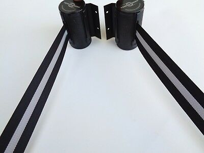 2 'TENSABARRIER' 7ft. Retractable Barrier Belts safety cone post------see photos