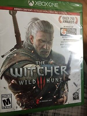 THE WITCHER 3: Wild Hunt- Xbox One Bonus Edition Brand New Detailed ...