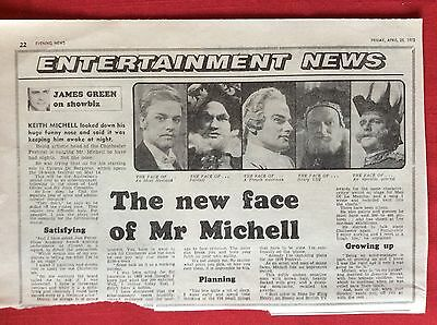 m2G ephemera 1975 article keith michell the new face actor