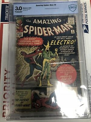 Marvel Amazing Spiderman 9 Cbcs 3.0 Not Cgc First Appearance Electro 1st App