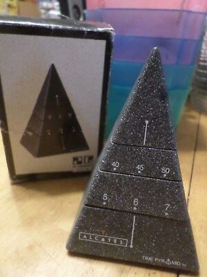 """4"""" Time Pyramid Clock, A Moving Sculpture/Timepiece  4-D Design 1988 in box"""