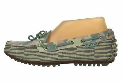 c9d677b40fb7 Cole Haan Womens Shoes Size 6.5 Green Printed Slip On Flat Driver Moccasins