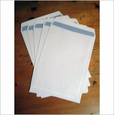 A4 WHITE PLAIN SELF- SEAL ENVELOPES 90gsm Qty : 25 - A4- BARGAIN LOW PRICED ITEM