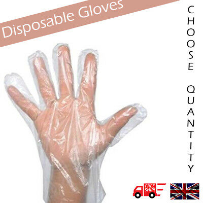 Clear disposable Gloves Garden Household Discounted packs of 50-1000 pairs