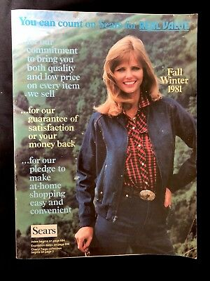 Vintage 1981 SEARS Fall Winter Catalog EXCELLENT! Western Edition Cheryl Tiegs