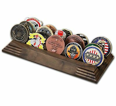 3 Row Challenge Coin Holder - Military Coin Display Stand - Amazing Military
