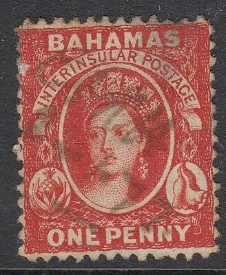 BAHAMAS SG16, 1d lake, USED. Cat £160. NO WATERMARK.