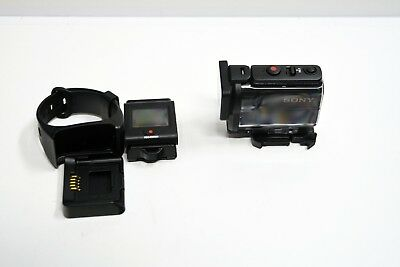 Sony HDR-AS50 HD Camcorder Action Camera + RM-LVR3 Remote Screen Pre-Owned