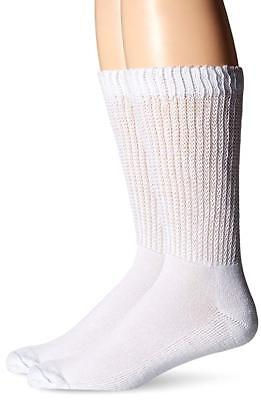 One Pair Mens  Dr Scholls Diabetes & Circulatory Odor-X Ds Dry White Crew 7-12