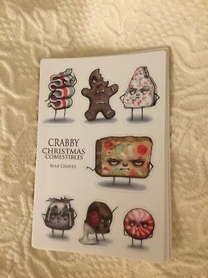 Mab Graves Crabby Christmas Comestibles Stickers